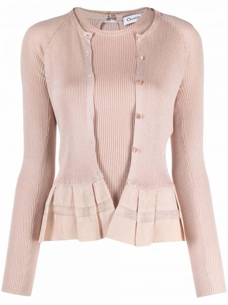 Różowy sweter bez rękawów Christian Dior