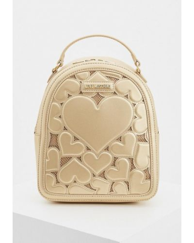Рюкзак золотого цвета Love Moschino