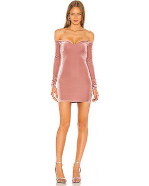 Платье мини розовое на молнии Nbd