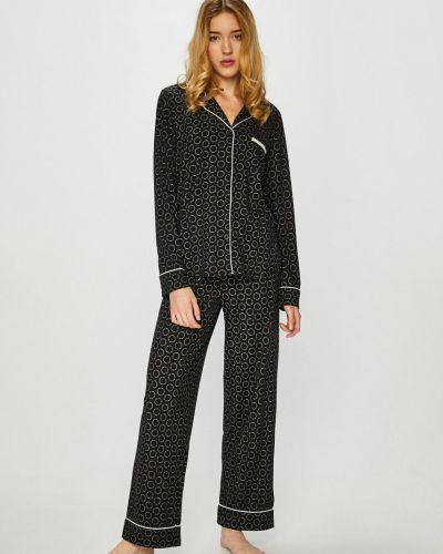Черная пижама трикотажная Dkny
