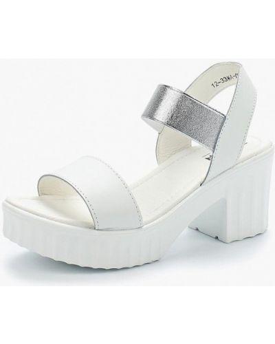 Белые босоножки на каблуке Zenden Comfort