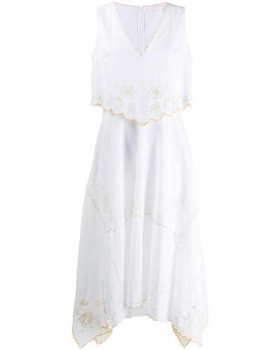 Платье с вышивкой без рукавов See By Chloé