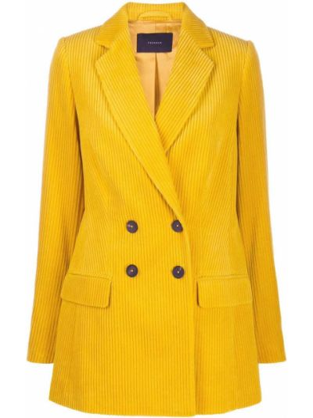 Желтое длинное пальто Frenken