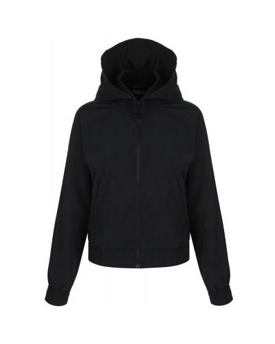 Черная короткая куртка на молнии с капюшоном Demix