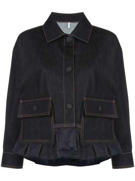 Джинсовая куртка на пуговицах с карманами Moncler