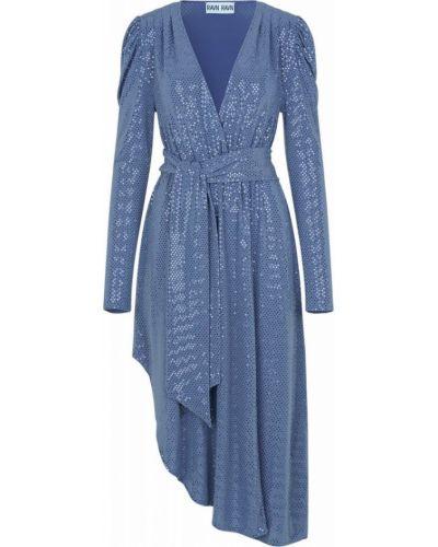 Niebieska sukienka z długimi rękawami Ravn
