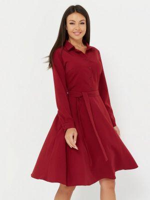 Платье бордовый платье-рубашка A.karina