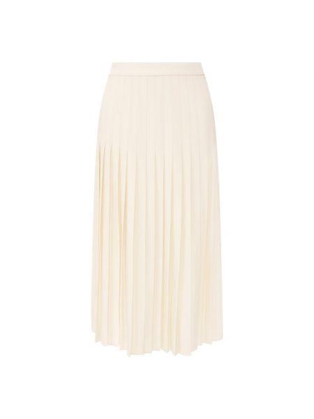 Плиссированная бежевая плиссированная юбка из вискозы Ralph Lauren