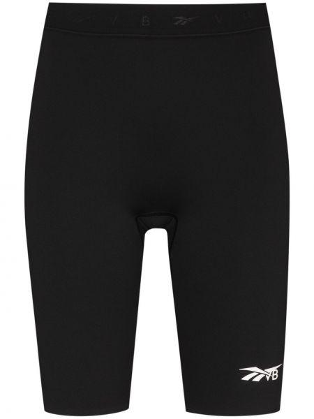 Облегающие шорты - черные Reebok