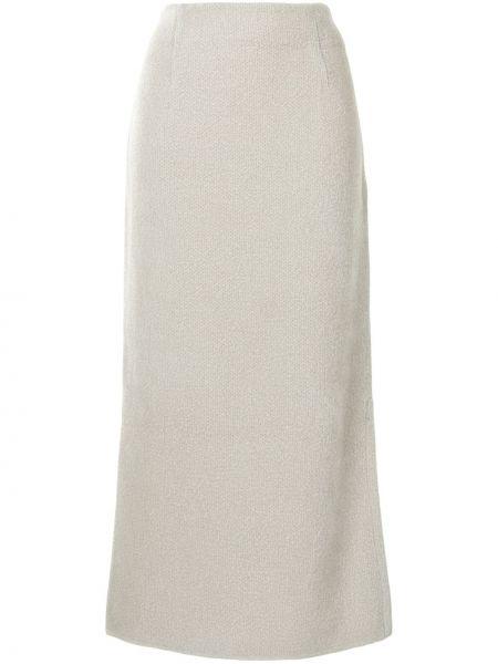 Biały nylon spódnica maxi Mame Kurogouchi