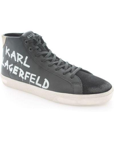 Czarne trampki z printem Karl Lagerfeld