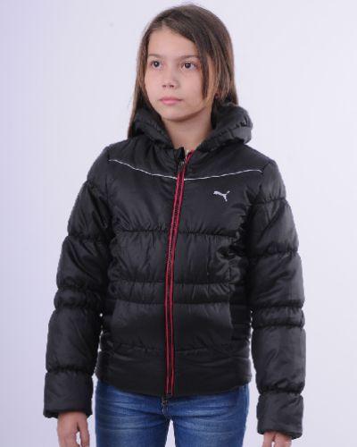 Утепленная куртка черная спортивная Puma