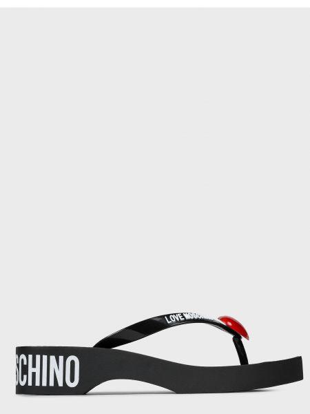 Черные шлепанцы Love Moschino