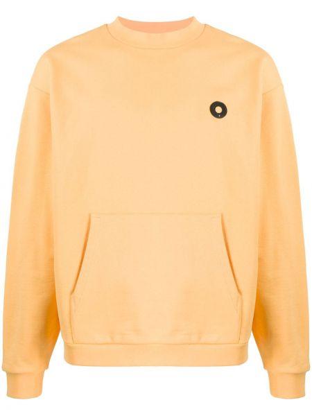 Żółty sweter bawełniany z długimi rękawami Drole De Monsieur