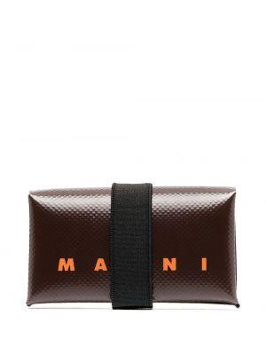 Brązowy portfel z kieszeniami Marni