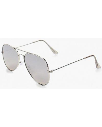 Солнцезащитные очки серебряного цвета Topman