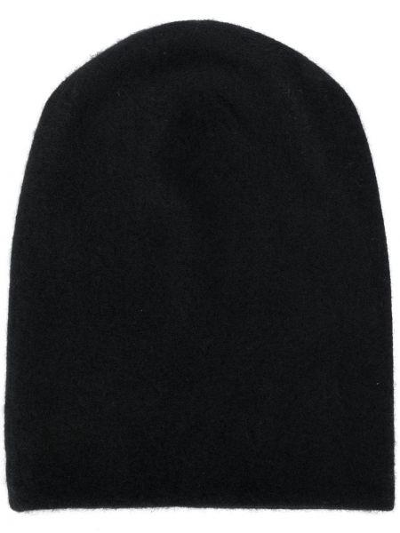 Кашемировая черная тонкая шапка бини Frenckenberger