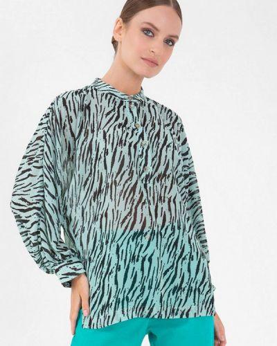 Бирюзовая блузка осенняя Lo