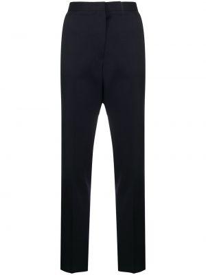Со стрелками шерстяные синие брюки Jil Sander