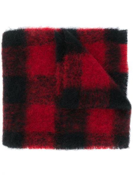 Czarny szalik z moheru przycięte Acne Studios
