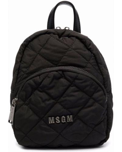 Czarny plecak pikowany Msgm Kids