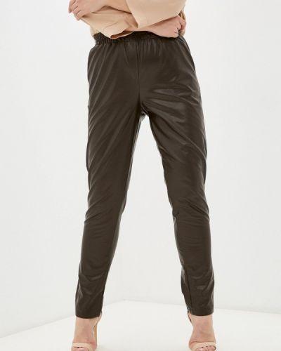 Коричневые зауженные брюки Prewoman