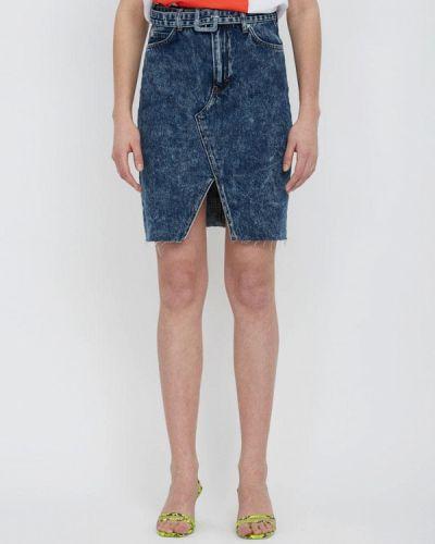Джинсовая юбка синяя турецкий Lime