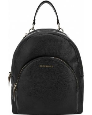 Кожаный рюкзак черный Coccinelle