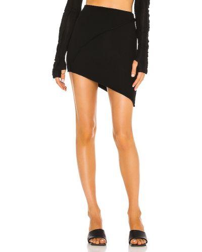 Asymetryczny włókienniczy czarny spódnica mini zabytkowe Sami Miro Vintage