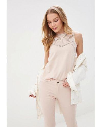 Блузка без рукавов розовый 2019 Naf Naf