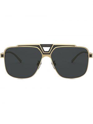 Солнцезащитные очки металлические - черные Dolce & Gabbana Eyewear