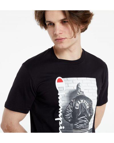 Czarny t-shirt Champion