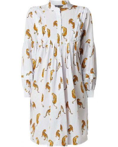 Biała sukienka mini rozkloszowana bawełniana Risy & Jerfs