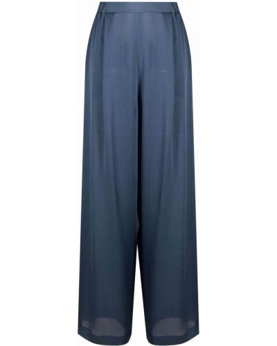 Шелковые брюки - синие Carine Gilson