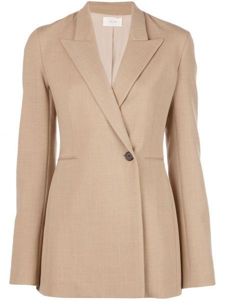 Шерстяной коричневый короткая куртка на пуговицах The Row