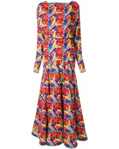 Платье с поясом с открытой спиной макси Manish Arora