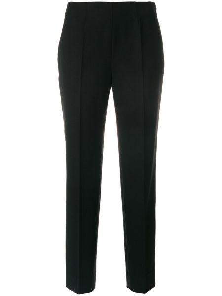 Укороченные брюки шерстяные черные Piazza Sempione