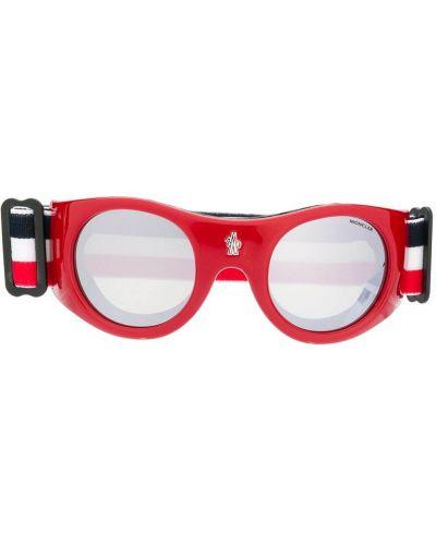Очки хаки круглые Moncler Eyewear