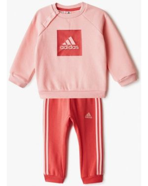 Спортивный костюм розовый костюмный Adidas
