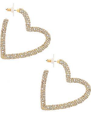 Szare złote kolczyki sztyfty pozłacane Baublebar