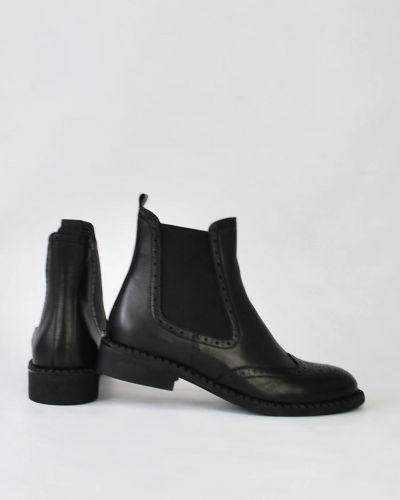 Кожаные ботинки челси - черные Kadar