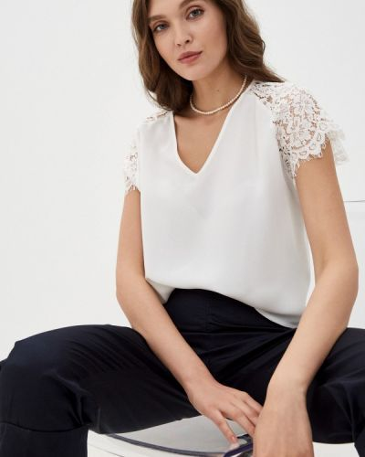 Белая блузка с короткими рукавами Franco Vello