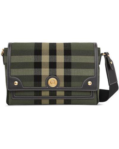 Кожаная сумка через плечо - зеленая Burberry
