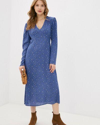 Прямое синее платье А-силуэта Imocean