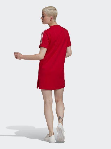 Свободное красное платье мини свободного кроя Adidas
