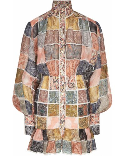 Платье на пуговицах пэчворк Zimmermann