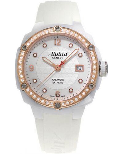 Кварцевые часы водонепроницаемые с бриллиантом с камнями Alpina
