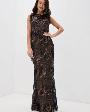 Вечернее платье осеннее черное Goddiva
