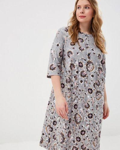 Платье весеннее серое Лори