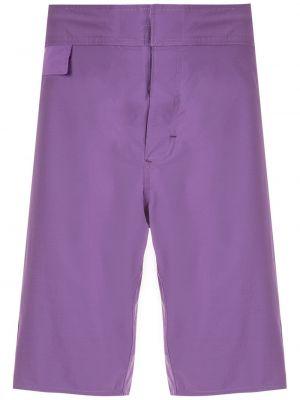 Фиолетовые прямые шорты Amir Slama